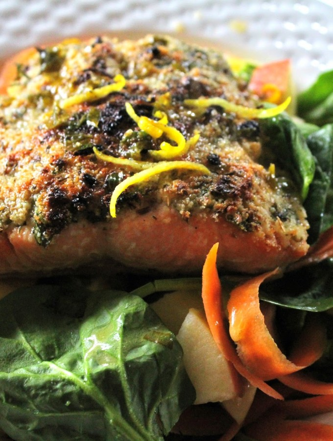 Almond & Herb Crusted Salmon