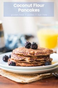 Coconut Flour Pancakes Pin Graphic