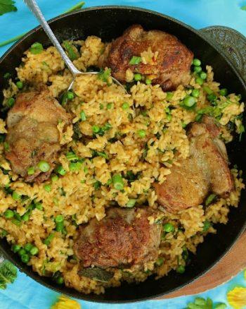 Low Fodmap Chicken & Herb Paella