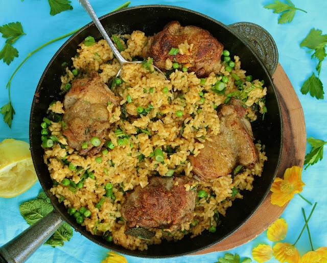 Low Fodmap Chicken & Herb Paella