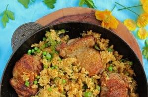 Low Fodmap Chicken & Fresh Herb Paella