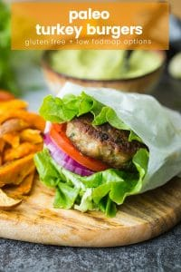 paleo turkey burgers pin graphic