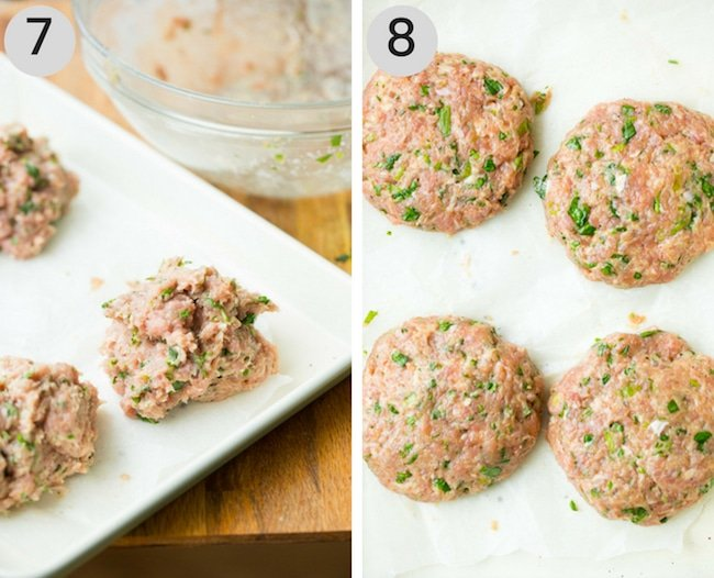 paleo turkey burgers patty collage