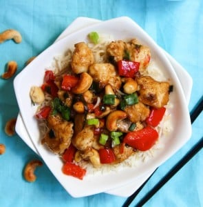 Guilt Free Cashew Chicken