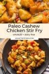 paleo cashew chicken pin graphic