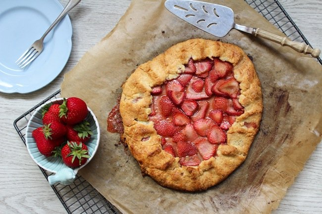 strawberry paleo galette with