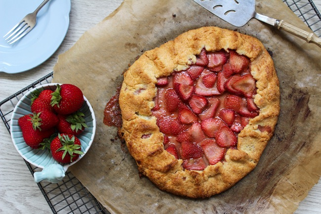 Strawberry Paleo Galette