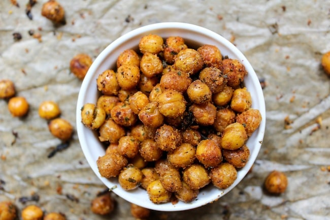Cool Ranch Roasted Chickpeas