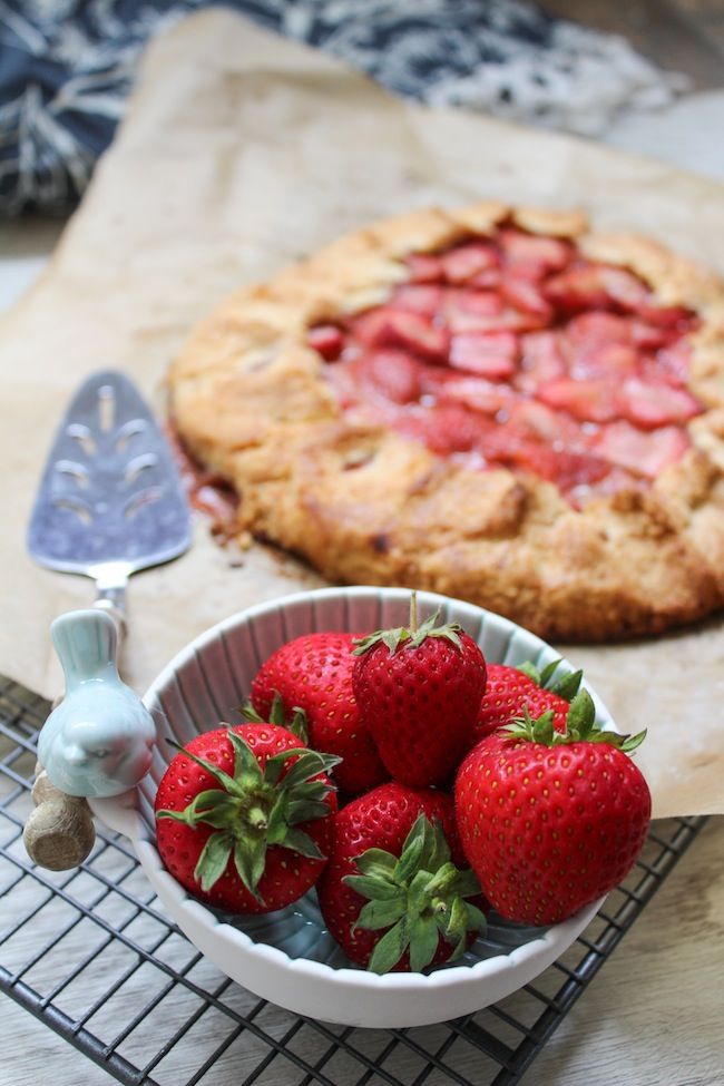 strawberries and paleo galette