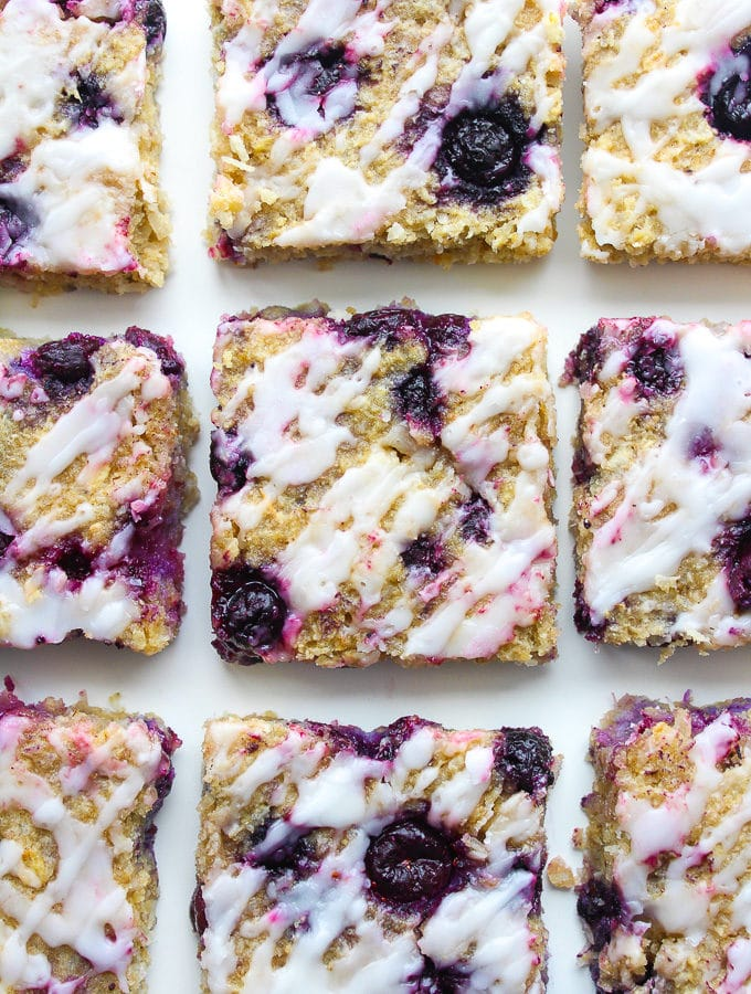 Blueberry Coconut Oat Squares