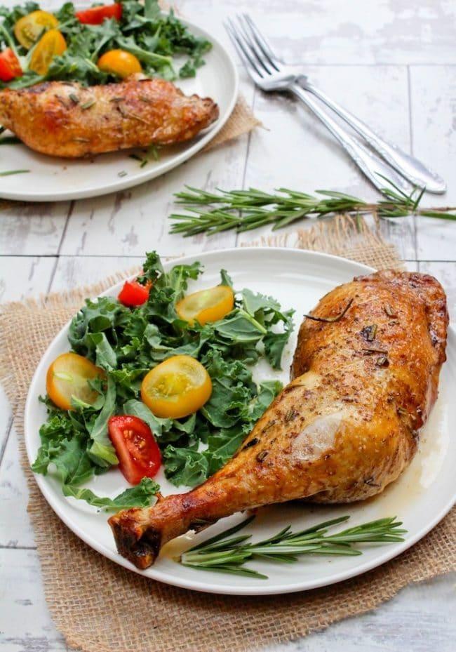 Low FODMAP & Paleo Balsamic Glazed Chicken Legs