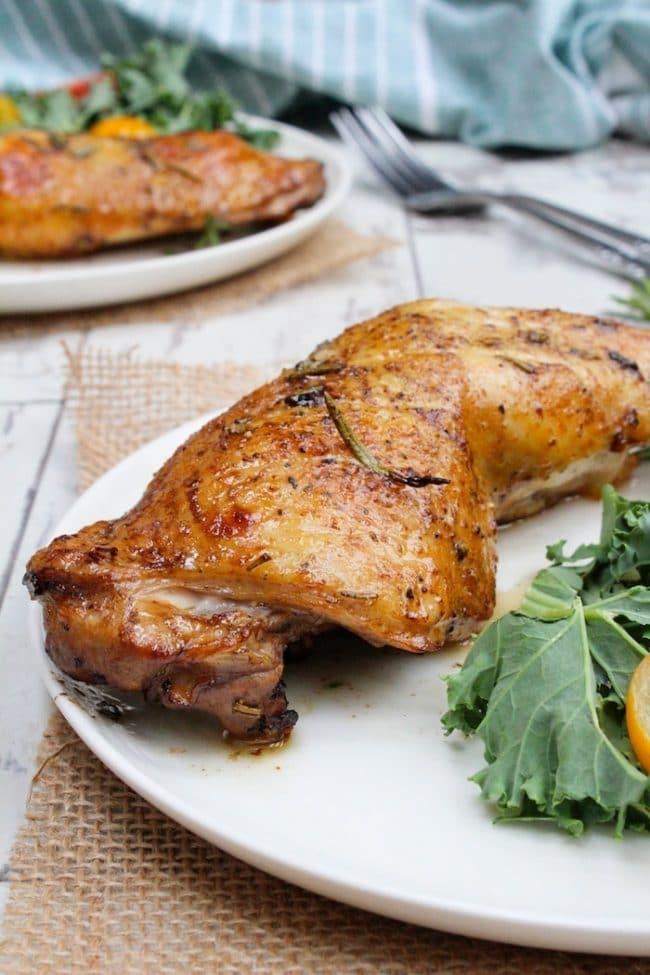 Paleo & Low FODMAP Balsamic Glazed Chicken Legs |asaucykitchen.com