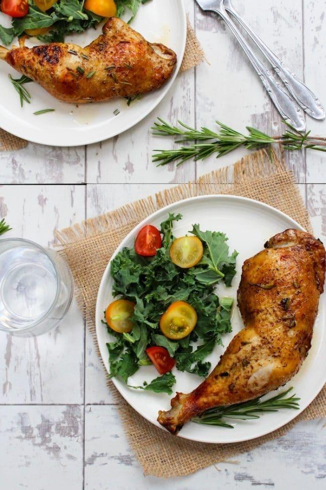 Paleo and Low Fodmap Balsamic Glazed Chicken Legs |asaucykitchen.com