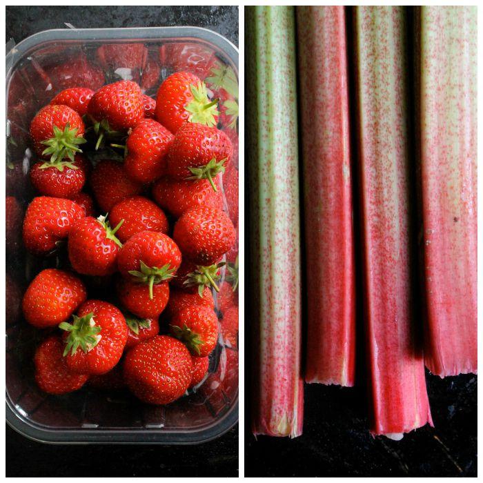 Strawberry Rhubarb Bars (Gluten Free & Vegan)