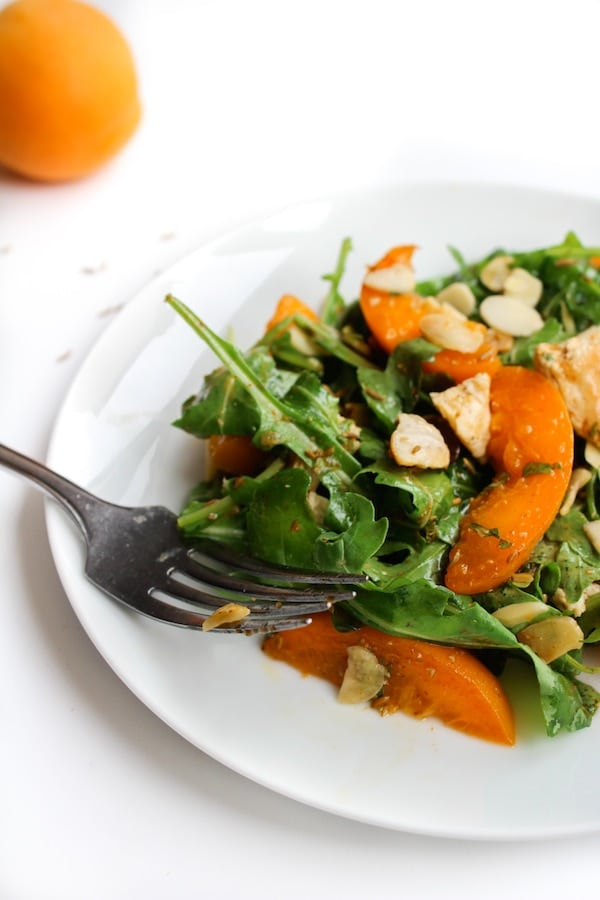 Apricot Chopped Chicken Salad with Toasted Cumin Vinaigrette | www.asaucykitchen.com