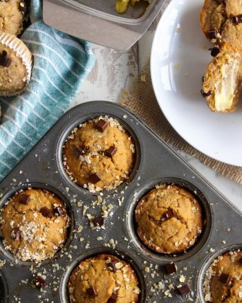 Spiced Banana Zucchini Muffins – GF, Low FODMAP, Vegan