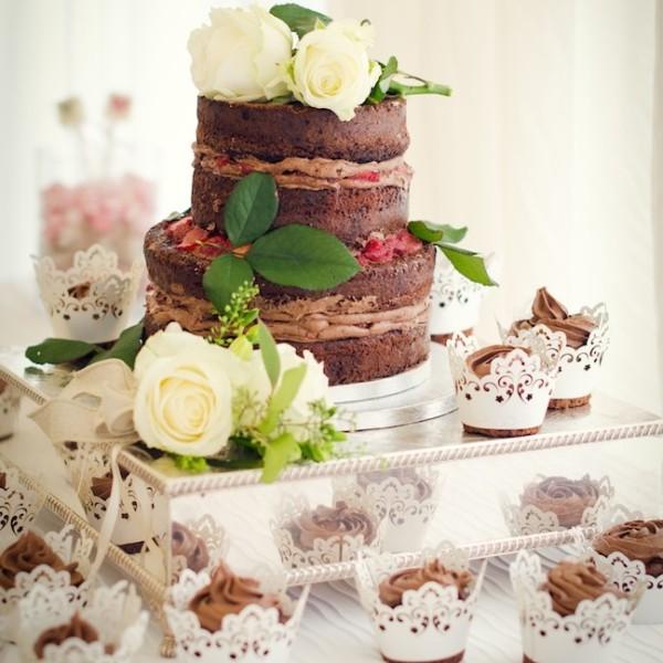 Gluten Free Naked Wedding Cake | asaucykithen.com