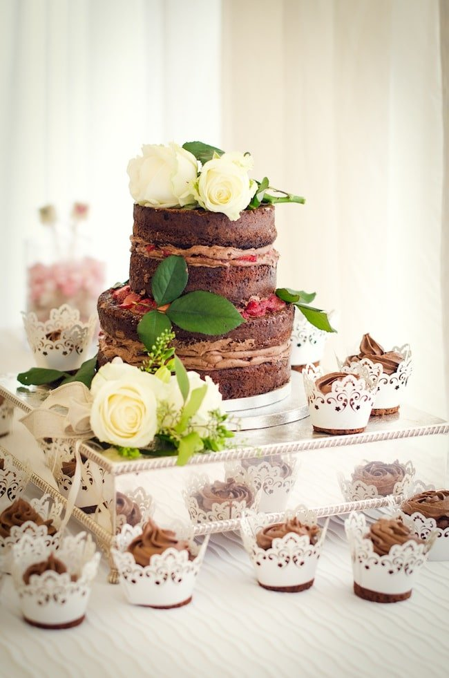 Homemade Wedding Cake.Gluten Free Chocolate Cake