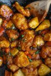 Paleo & Low FODMAP Sweet and Sour Chicken up close