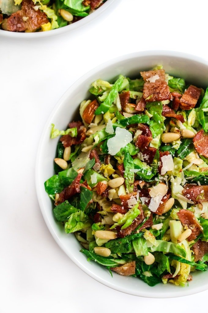 Bacon and Brussels Sprout Salad | www.asaucykitchen.com