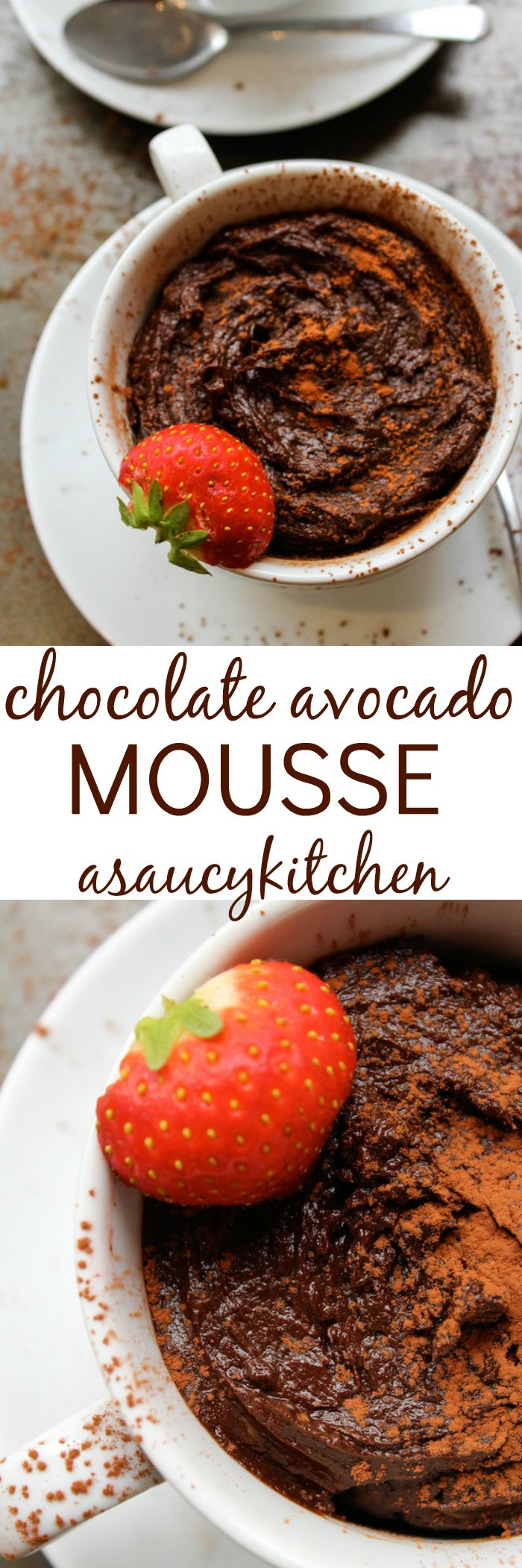 Chocolate Avocado Mousse - A Saucy Kitchen