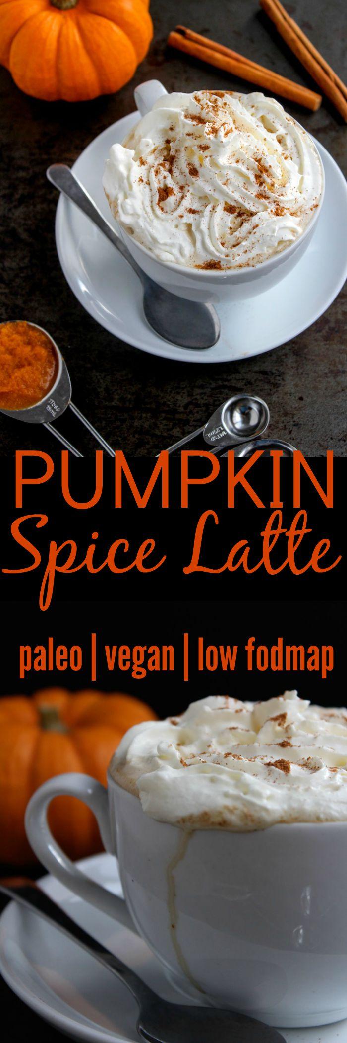 Dairy Free Pumpkin Spice Latte www.asaucykitchen.com