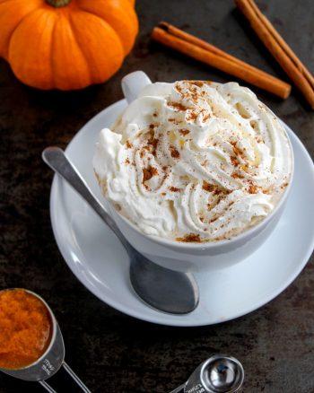 Dairy Free Pumpkin Spice Latte + Pumpkin Spiked Latte