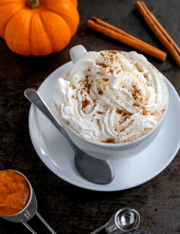 Dairy Free Pumpkin Spice Latte | www.asaucykitchen.com