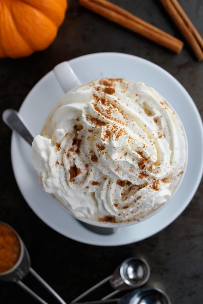 Dairy Free Pumpkin Spiced Latte + Pumpkin Spkied Latte | www.asaucykitchen.com