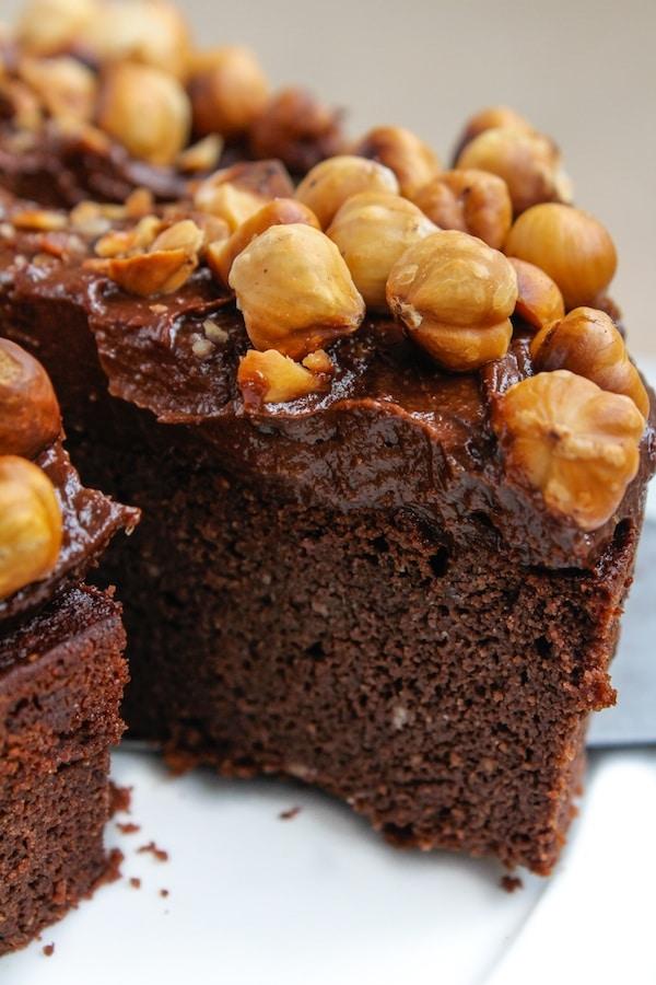 Grain Free & Dairy Free Chocolate Hazelnut Cake | www.asaucykitchen.com