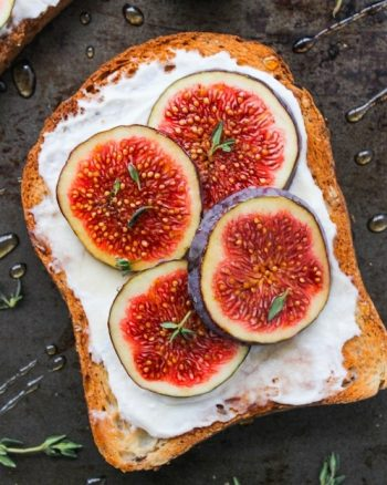Honey & Thyme Ricotta with Fig Toast
