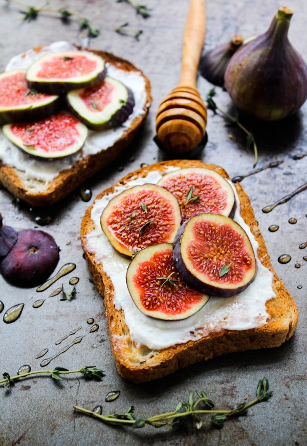 Honey & Thyme Ricotta with Fig Toast - A Saucy Kitchen
