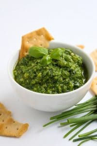 Low FODMAP Chive Pesto | www.asaucykitchen.com