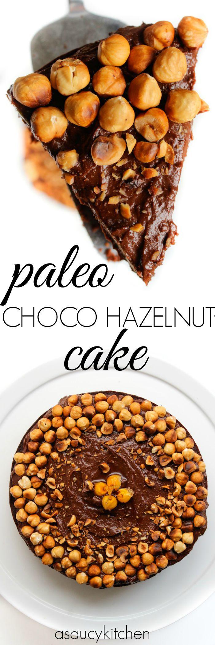 Paleo Chocolate Hazelnut Cake www.asaucykitchen.com