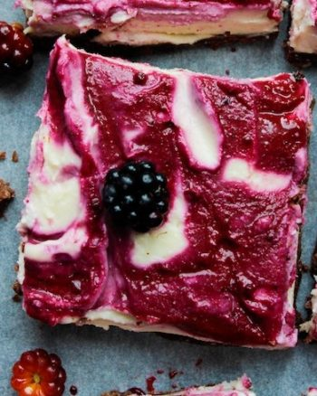 Vegan Blackberry Cheesecake