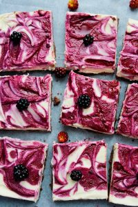 Raw Blackberry Cheesecake (gluten free) | www.asacuykitchen.com