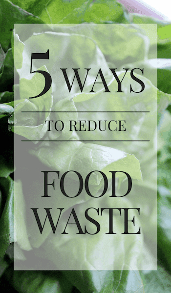 text: 5 ways to reduce food waste