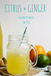 Citrus + Ginger Homemade electrolyte drink for POTS | www.asaucykitchen.com