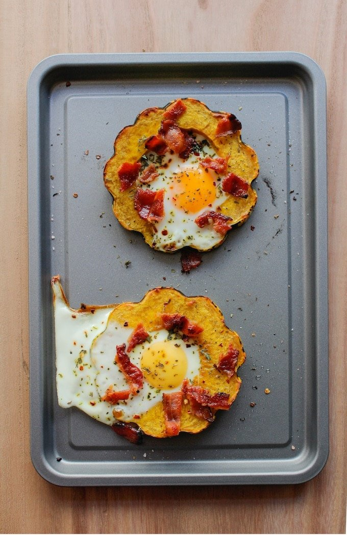 Eggs in Squash Rings | www.asaucykitchen.com