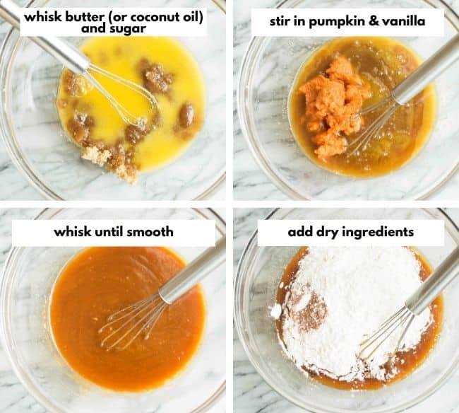 Gluten Free Vegan Pumpkin Chocolate Chip Cookies collage 1