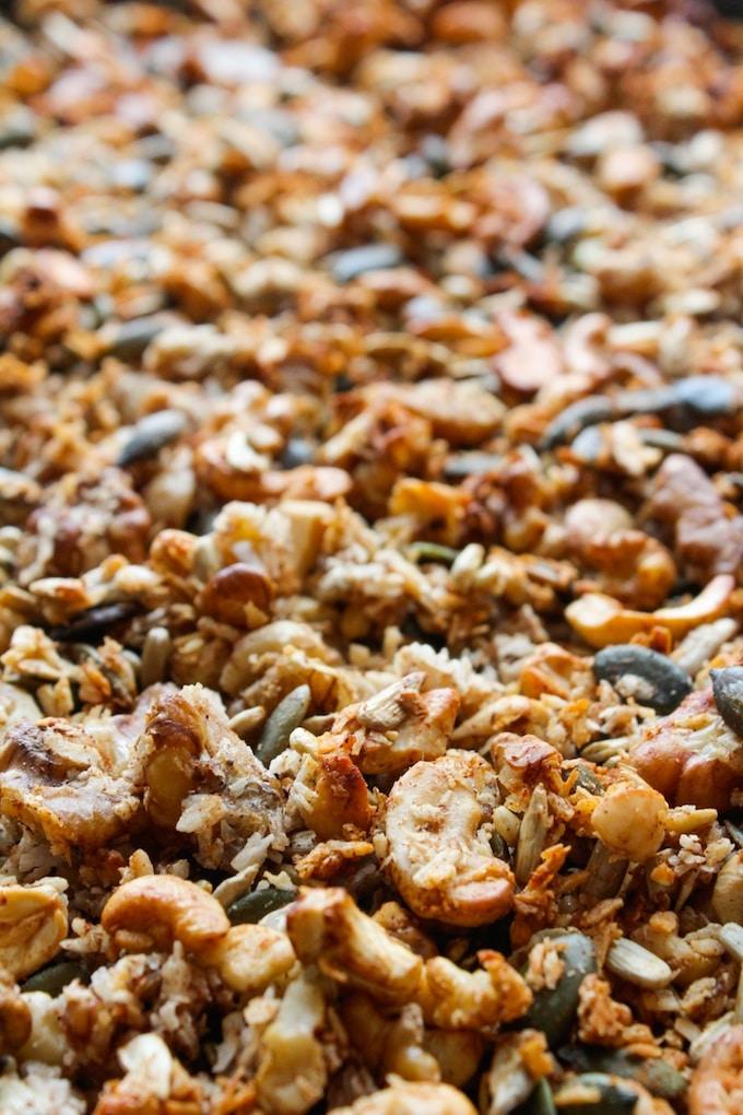 Grain Free Banana Granola | www.asaucykitchen.com