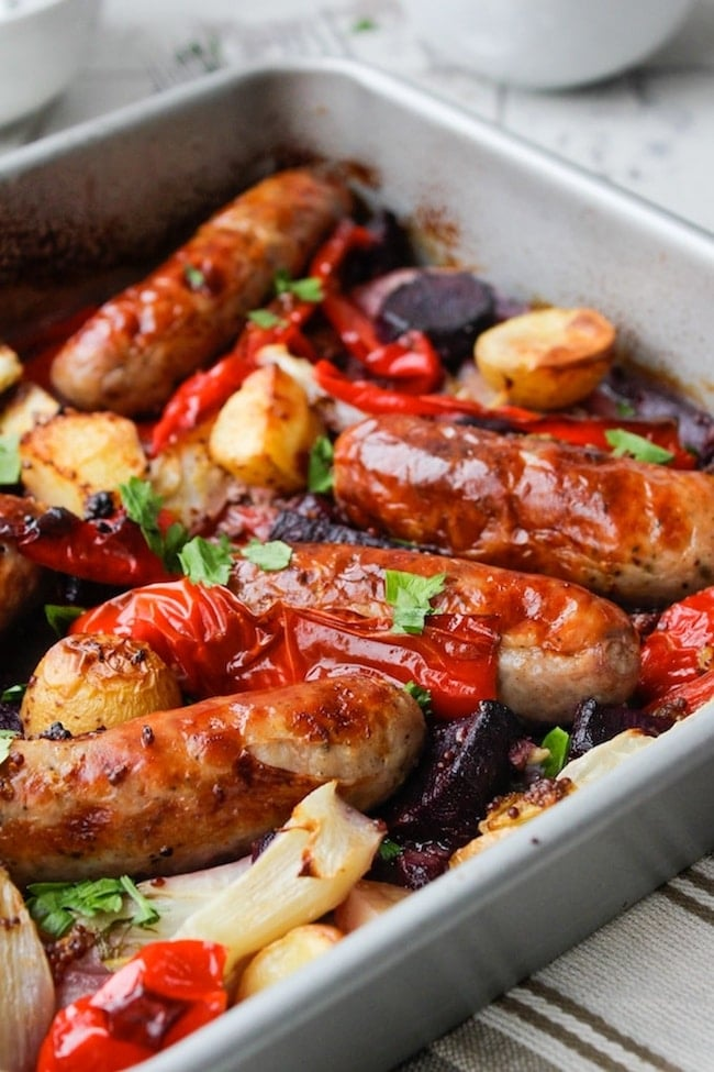 Sausage, Fennel and Pepper Roast