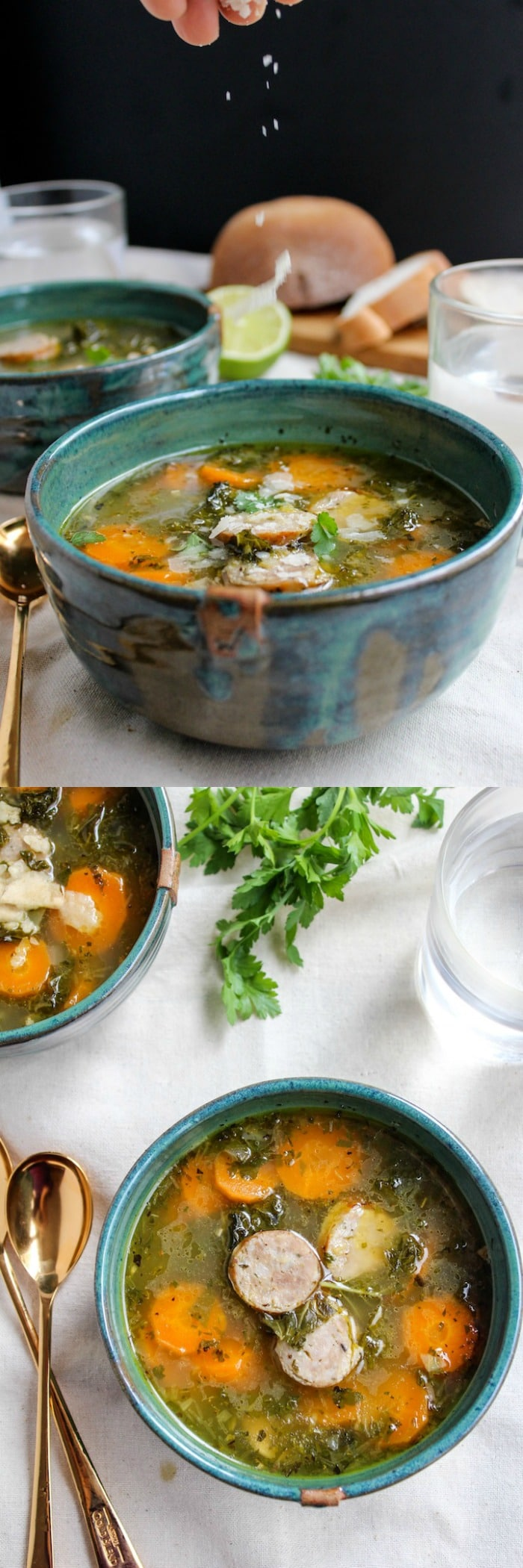 Sausage and Kale Soup www.asaucykitchen.com