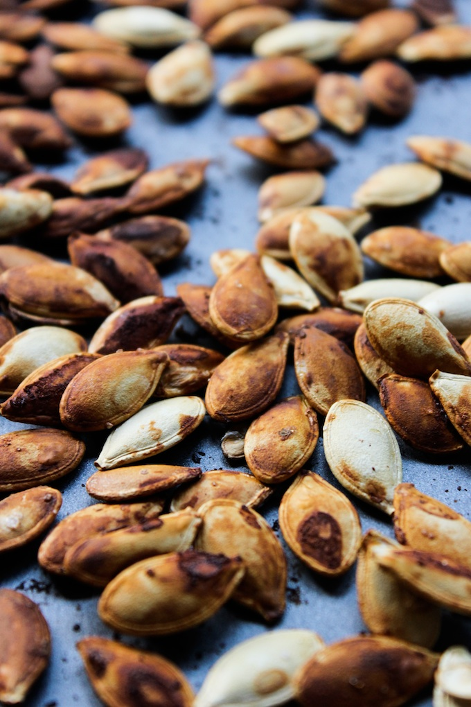 Tamari Roasted Pumpkin Seeds | www.asaucykitchen.com