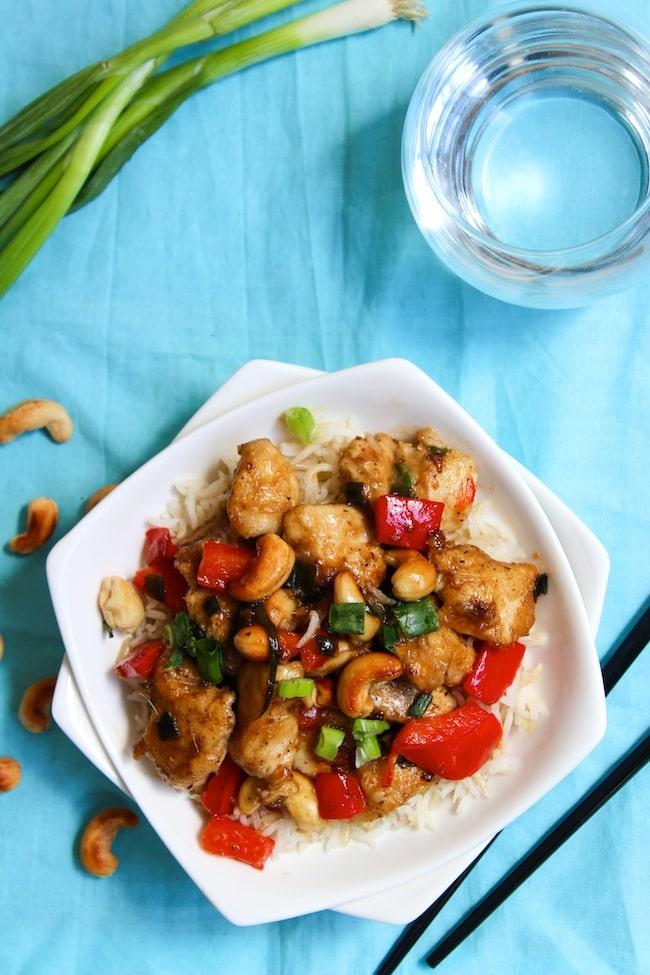 Whole 30 Cashew Chicken | www.asaucykitchen.com