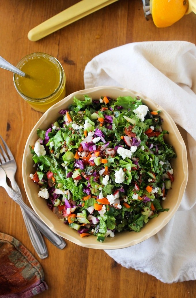 Chopped Farm Salad with Quinoa & Mixed Greens