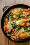 White Wine Braised Chicken & Veggies