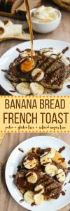 Another reason to love breakfast: paleo banana bread French toast! Gluten free + grain free + dairy free