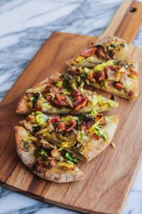 Bacon, Brussels and Blue Cheese Flatbread