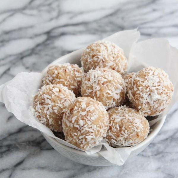 Coconut Date Snowballs - Easy to make nut free, vegan, and autoimmune friendly snack bite